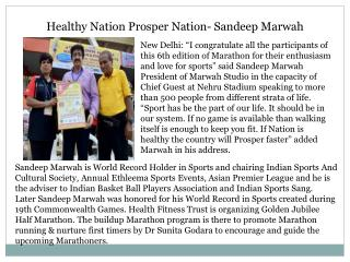 Healthy Nation Prosper Nation- Sandeep Marwah