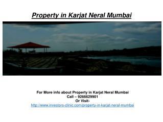 Property in Karjat Neral Mumbai@9266629901