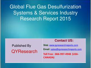 Global Flue Gas Desulfurization Systems & Services Market 2015 Industry Growth, Trends, Analysis, Research and Developme