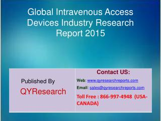 Global Intravenous Access Devices Market 2015 Industry Growth, Trends, Analysis, Research and Development