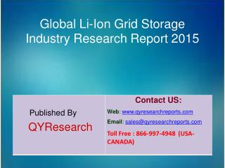 Global Li-Ion Grid Storage Market 2015 Industry Growth, Trends, Analysis, Research and Development