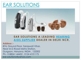 Hearing Aids in Delhi  � EAR Solutions
