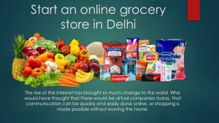 Online grocery shopping in Delhi
