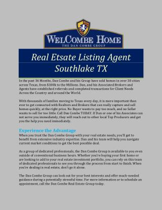 Real Etsate Listing Agent Southlake TX
