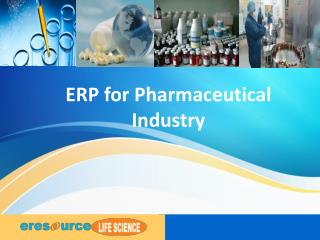 eresourceERP Pharmaceutical