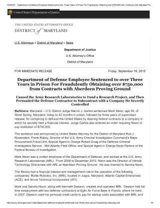 Blog 122  Department of Defense Employee Sentenced to over Three Years in Prison For Fraudulently Obtaining over $750,