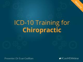 ICD-10 Training For Chiropractic
