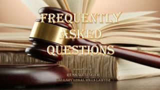 FAQ Answered By Russ Weninger | Calgary Legal Wills Lawyer