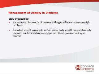Management of Obesity in Diabetes