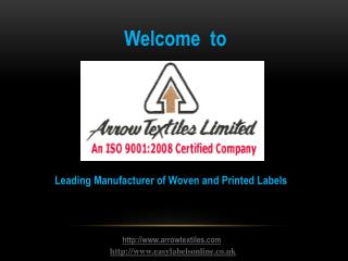 Arrow Textiles  - Easy Labels Online