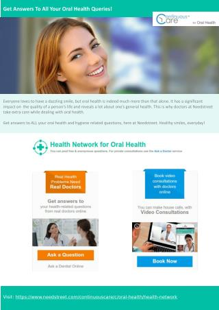 Get answers to all your oral health queries!