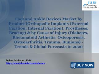 Foot and Ankle Devices Market by Product & by Cause of Injury: JSBMarketResearch