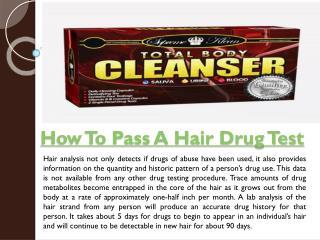 Pass A Hair Follicle Drug Test