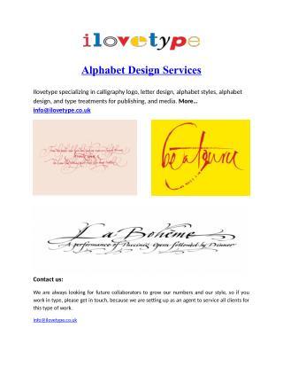Alphabet Design Services