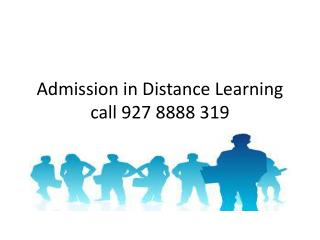 Distance education for Admission in MBA.