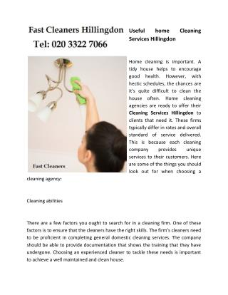 Useful home Cleaning Services Hillingdon