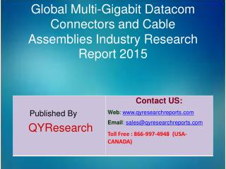 Global Multi-Gigabit Datacom Connectors and Cable Assemblies Market 2015 Industry Growth, Research and Development
