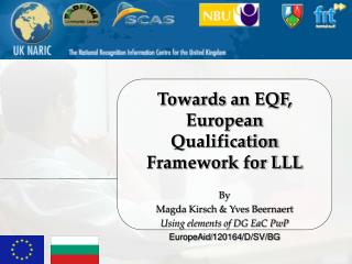 Towards an EQF, European  Qualification Framework for LLL  By  Magda Kirsch  Yves Beernaert Using elements of DG EaC PwP