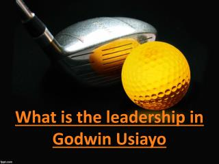 What is the leadership in Godwin Usiayo