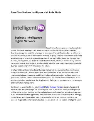 Intelligent HQ Social Business
