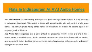 Flats In Indirapuram At AVJ Amba Homes