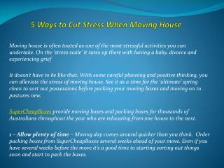 5 Ways to Cut Stress When Moving House
