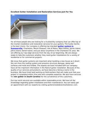 Gutter Repairs Summerville