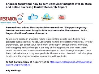 Shopper targeting: how to turn consumer insights into in-store and online success