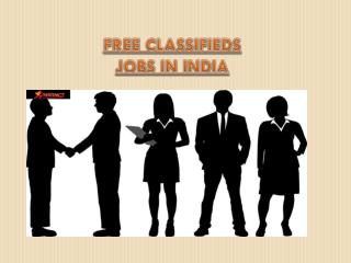 Free Classifieds Jobs in India