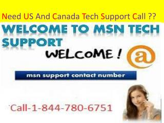 1-844-780-6751 &*& MSN Help Support Number for Customer