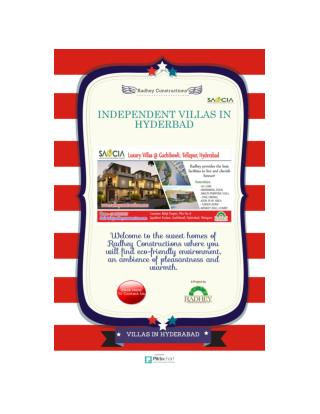 independent villas in Hyderabad
