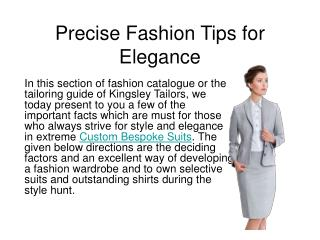 Precise Fashion Tips for Elegance