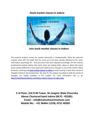 join stock market classes in indore