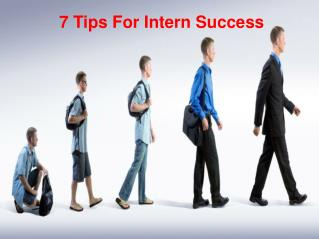 7 Tips For Intern Success