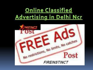Online Classified Advertising in Delhi Ncr