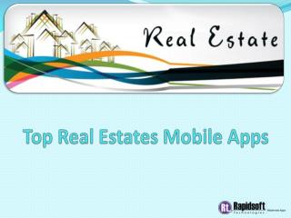 Top Real Estates Mobile Apps