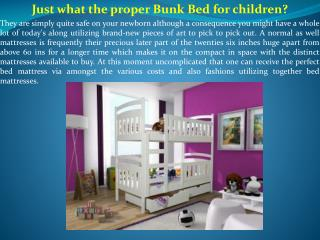 Just what the proper Bunk Bed for children