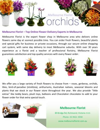Melbourne Florist – Top Online Flower Delivery Experts in Melbourne