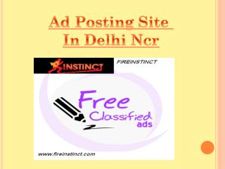 Ad posting  site in delhi ncr