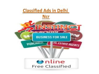 Classified Ads in Delhi Ncr