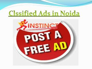 Classified Ads in Noida