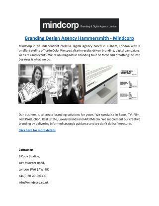 Branding Design Agency Hammersmith - Mindcorp