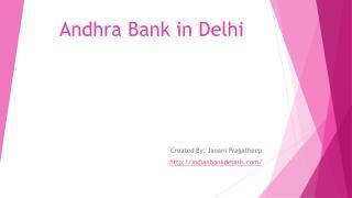 Andhra Bank in Delhi