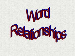 Word Relationships