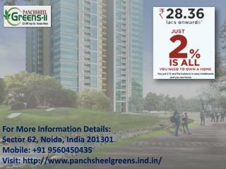 Panchsheel Green 2 at Greater Noida Call  91 9560450435
