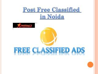 Post Free Classifieds in Noida