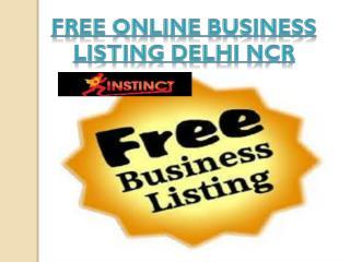Free Online Business listing Delhi Ncr