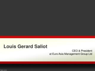 Louis Gerard Saliot (Fiji Tourism)  | CEO Euro Asia Management Group