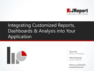 Integrate Report Engine, Dashboards & Analysis Into Your Application