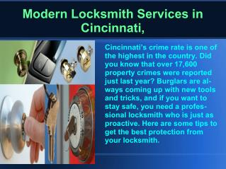 Cincinnati Modern Keyless entry systems Locksmith